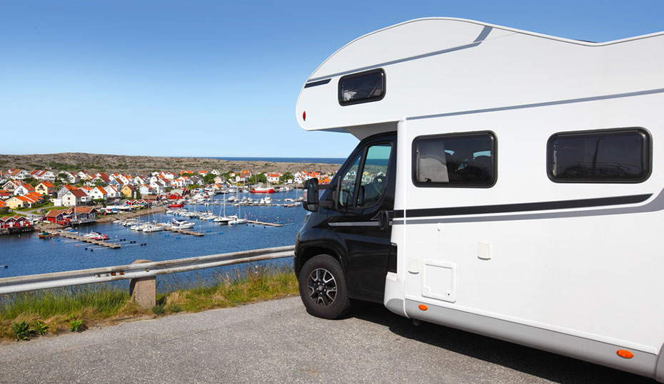 Motorhome Schweden Aussicht Dorf